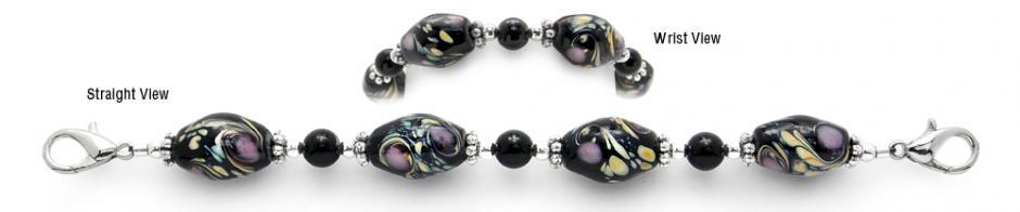 Designer Bead Medical Bracelets Ruffled Feathers II 2083