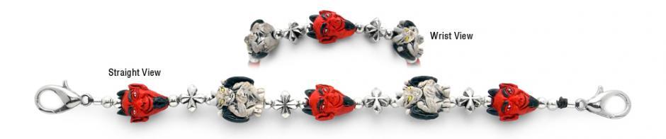 Designer Bead Medical ID Bracelet Gargoyle Guardians 2086, Medical Bracelets