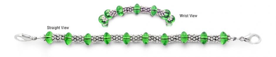 Designer Bead Medical Bracelets Snake Eyes 2087