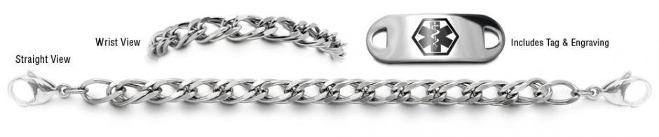 Designer Stainless Medical Bracelet Set Un Prezzo Milano 22001