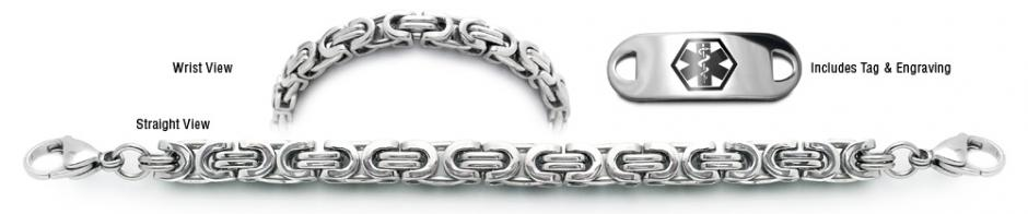 Designer Stainless Medical Bracelets Set Corsa a Milano 22009