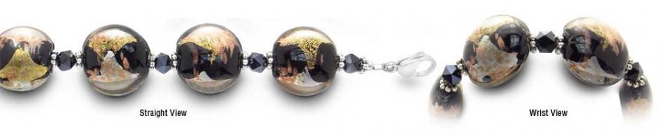 Designer Bead Medical Bracelets Shimmering Lava 2206