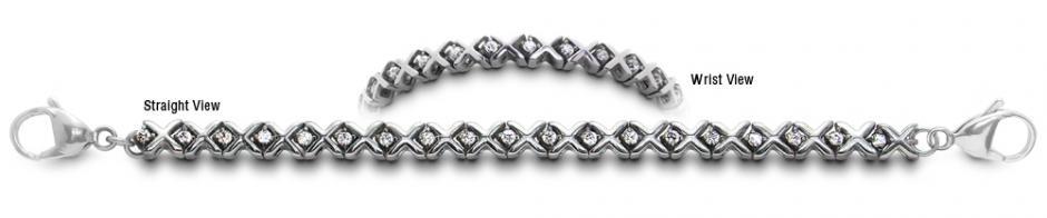 Designer Stainless Medical Tennis Bracelet Magia dei Diamanti 2239