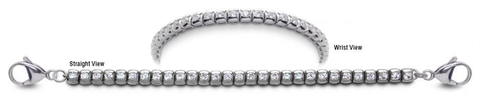 Designer Stainless Medical Tennis Bracelet Pizzo Bottarello 2240