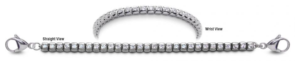 Designer Stainless Medical Tennis Bracelet Pizzo Bottarello 2240