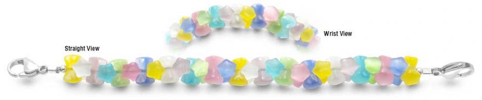 Designer Bead Medical Bracelets Rainbow Stars 2245