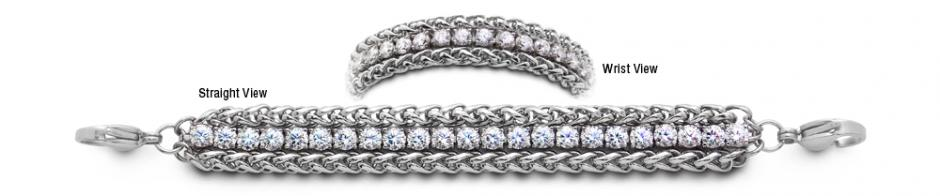 Designer Stainless Medical Tennis Bracelet Pizzo D Andolla 2259