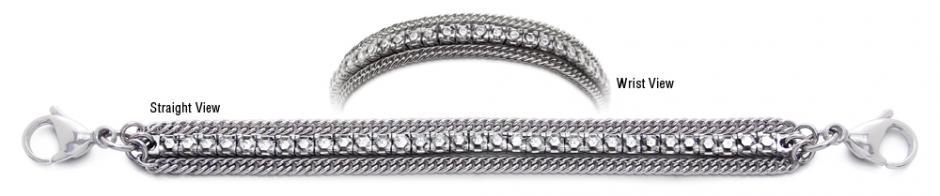Designer Diamond Medical Tennis Bracelets Cima de Piazzi 2263