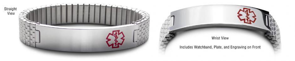 Designer Stainless Medical Bracelet Set Watchband 22082