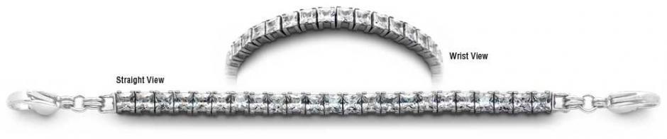 Designer Stainless Medical Tennis Bracelets Diamanti Quadrati 2328