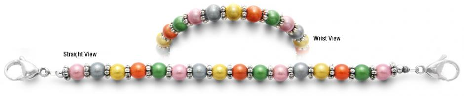 Designer Bead Medical Bracelets Rainbow World 2348