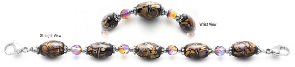 Designer Bead Medical Bracelets Brushstrokes 2350