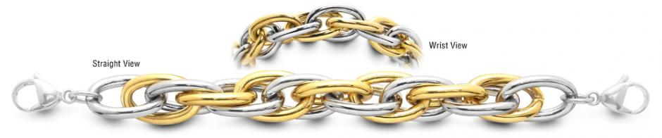 Designer Gold-Silver Medical Bracelets Torsione del Destino 2372