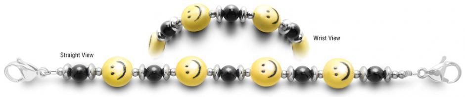Designer Bead Medical Bracelets Smiley Face 2374