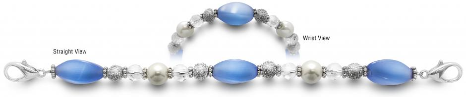 Designer Bead Medical ID Bracelets Blue Breeze 3776