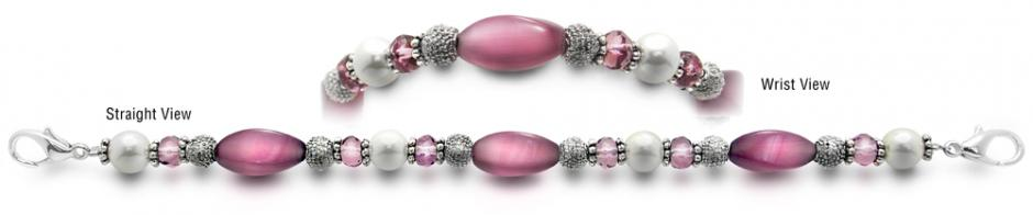 Designer Bead Medical Bracelets Blush Breeze 3795