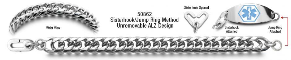 Italiana 50862 ALZ Stainless Medical ID Bracelet Set