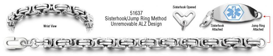 Savona 51637 Unremovable Medical Bracelet Set