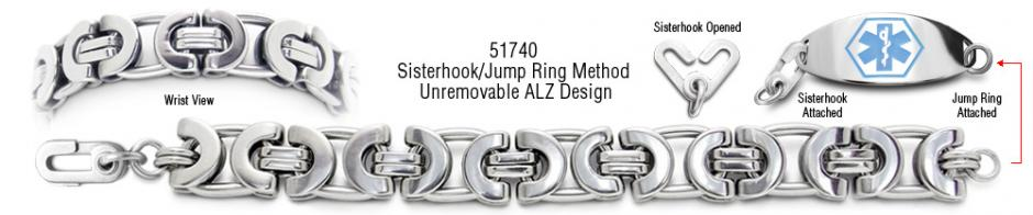 ALZ Unremovable Medical ID Bracelet Set Suzzara 51740