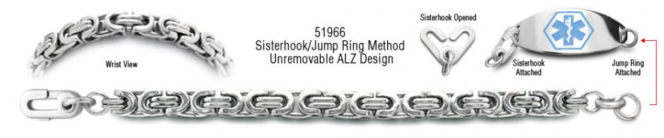 ALZ Unremovable Medical ID Bracelet Set Corsa a Milano 51966