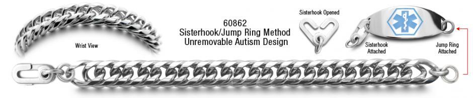 Italiana 60862 Autism Stainless Medical ID Bracelet Set