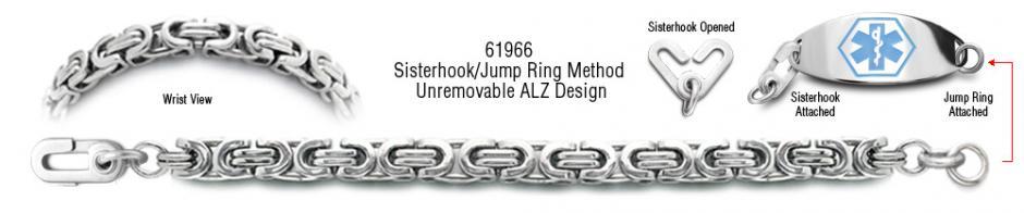 Autism Unremovable Medical ID Bracelet Set Corsa a Milano 61966