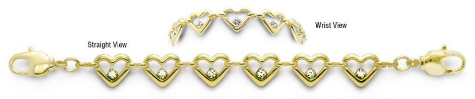 Designer Gold-Diamond Medical Bracelets Amoré Oro 9005