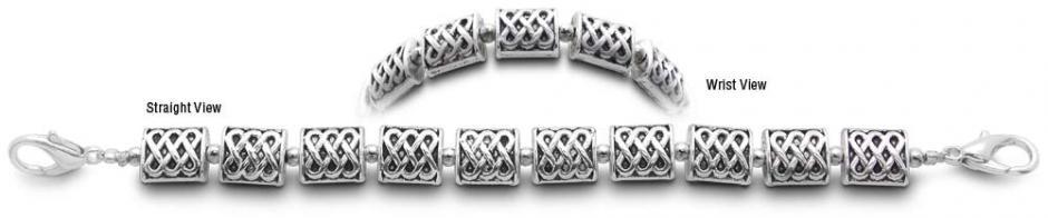Designer Bead Medical Bracelets Silver Rope 9416