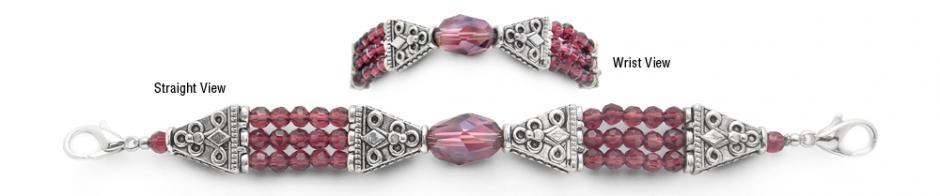 Designer Bead Medical Bracelets Shimmering Purple 9503