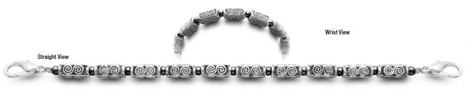 Stroke of Silver 9607 Beaded Medical Bracelets