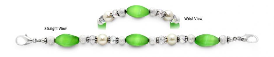 Designer Bead Medical Bracelets Green Breeze 9615