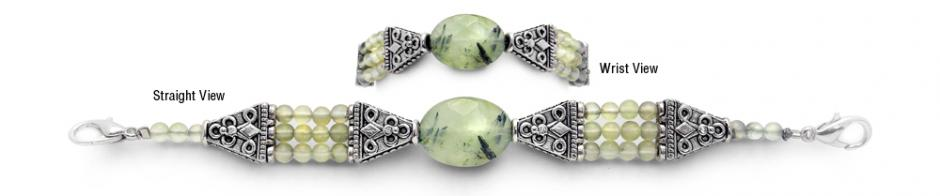 Designer Bead Medical Bracelets Prehnite 9672