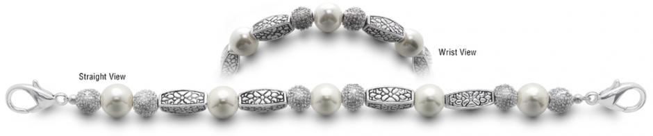 Designer Bead Medical Bracelets Pearls In Spring 9745