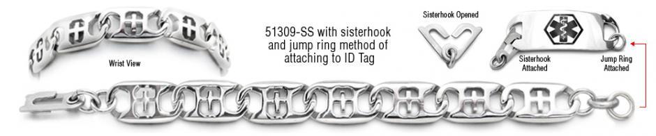 ALZ Stainless Medical Bracelet Set San Michele 51309