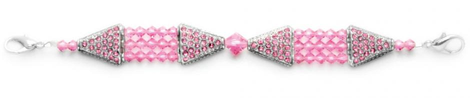 Designer Bead Medical Bracelets Study in Pink 1160