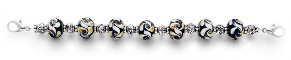 Designer Bead Medical Bracelets Autumn Swirl II 0181