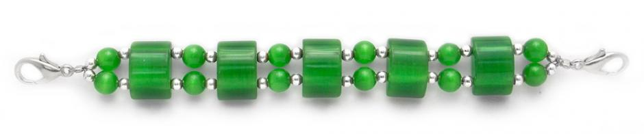Designer Bead Medical Bracelets Green Domes of Delight 0185