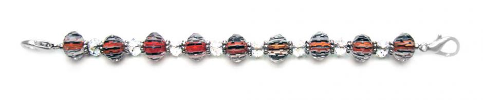 Beaded Medical Bracelets Shimmy Red, White and Blue 0259