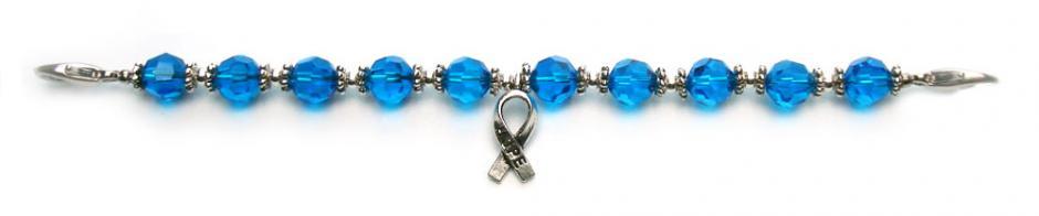 Designer Bead Medical Bracelets Hope in Blue 0308