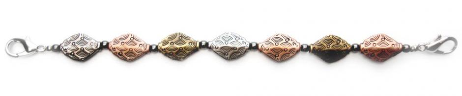 Designer Bead Medical Bracelets Diamond Troika 0361