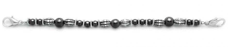 Designer Bead Medical Bracelets Ovals Having a Ball 0593