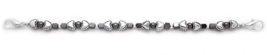 Designer Bead Medical Bracelets Hearts and Squares 0595