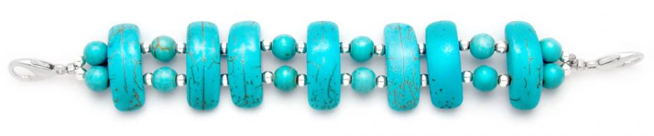 Designer Bead Medical Bracelet Turquoise Party 0779