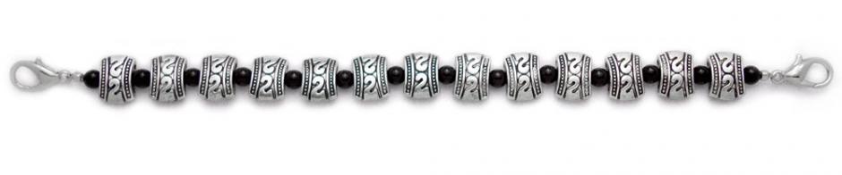 Designer Bead Medical Bracelets Silver Metalica 0800
