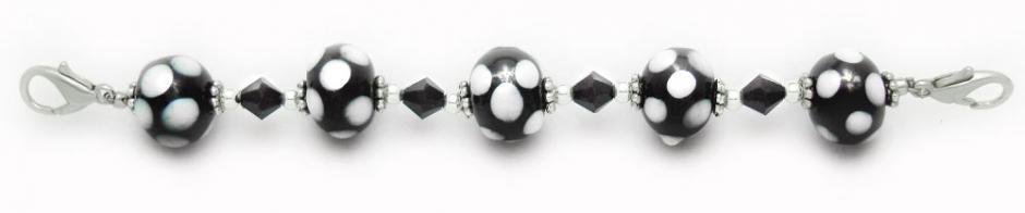 Designer Bead Medical Bracelets Polka-Dotted Patti 0848