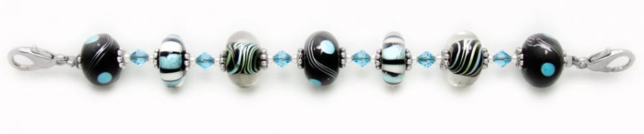 Designer Bead Medical Bracelets Funky Blues 0850