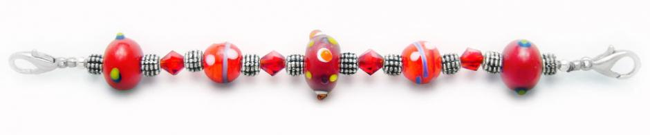 Designer Bead Medical Bracelets Red Zone 0864