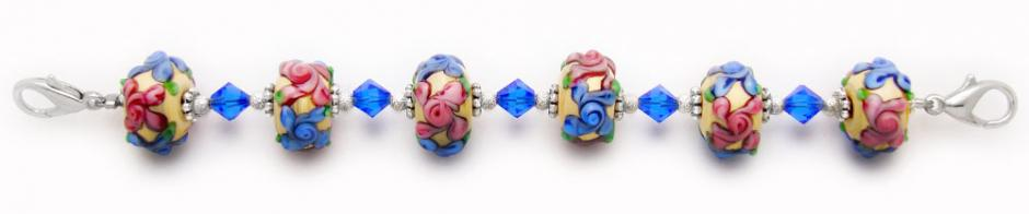 Designer Bead Medical Bracelets Victorian Bouquet 0866