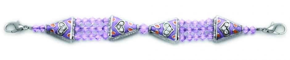 Designer Bead Medical Bracelets Study in Pale Purple 0924