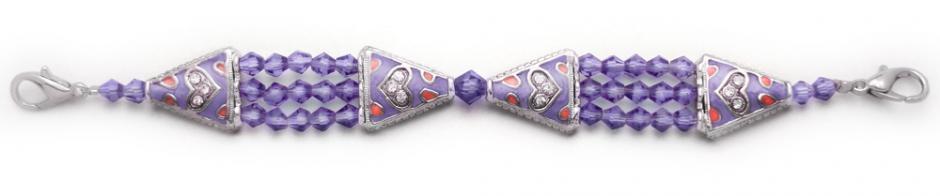 Designer Bead Medical Bracelets Study in Deep Purple 0925